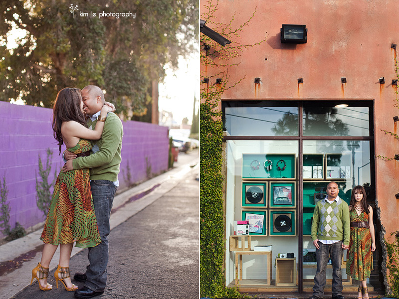 orange county california costa mesa the lab restaurant engagement photography by kim le photography