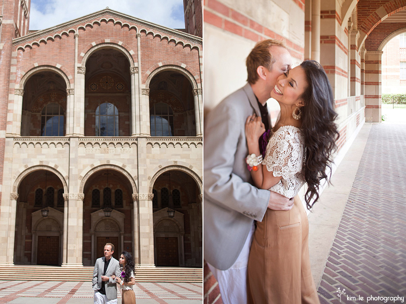 ucla library los angeles engagement wedding photography by kim le photography