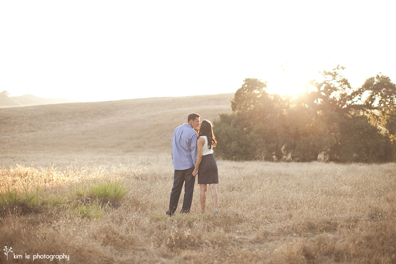 orange county wilderness park engagement by kim le photography