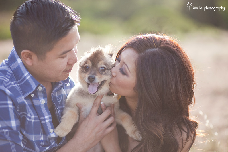 los angeles wilderness park engagement by kim le photography