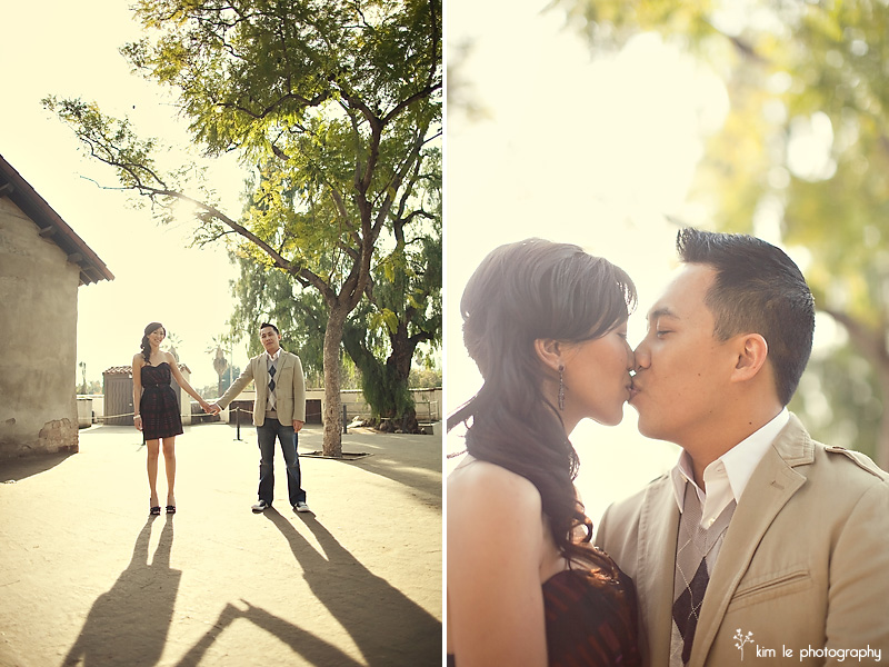 san juan capistrano engagement by kim le photography
