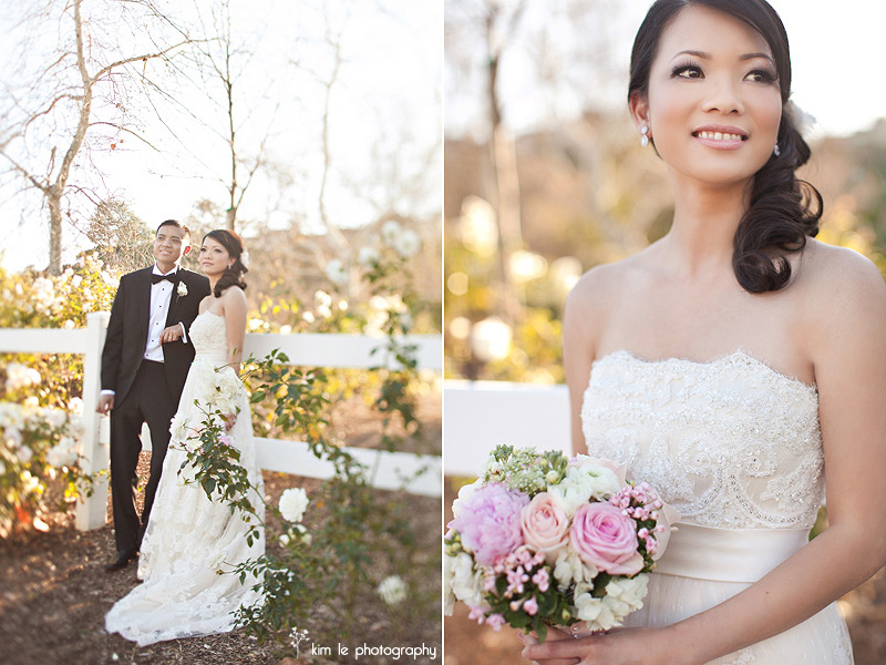 orange county california wedding portraits  wedding by kim le photography