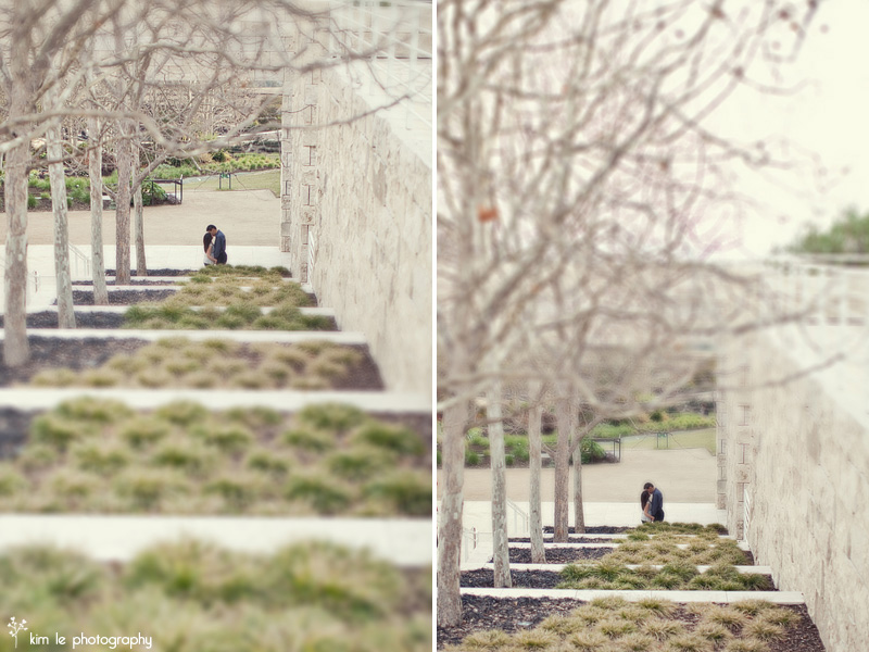 los angeles getty center engagement by kim le photography