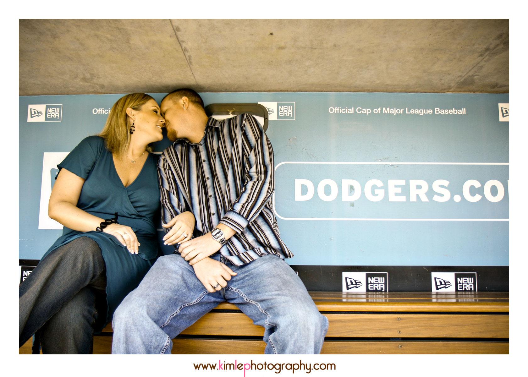 dodger stadium engagement shoot
