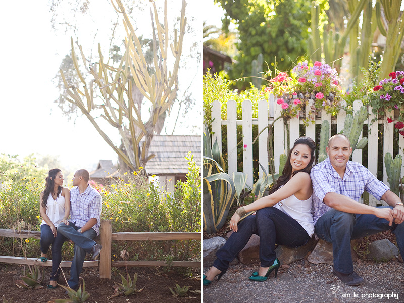 orange county san juan capistrano engagement by kim le photography