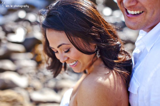 hollie & brian engagement by kim le photography