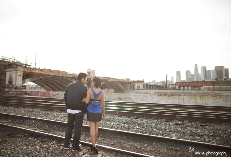 jenna and steven engagement by kim le photography