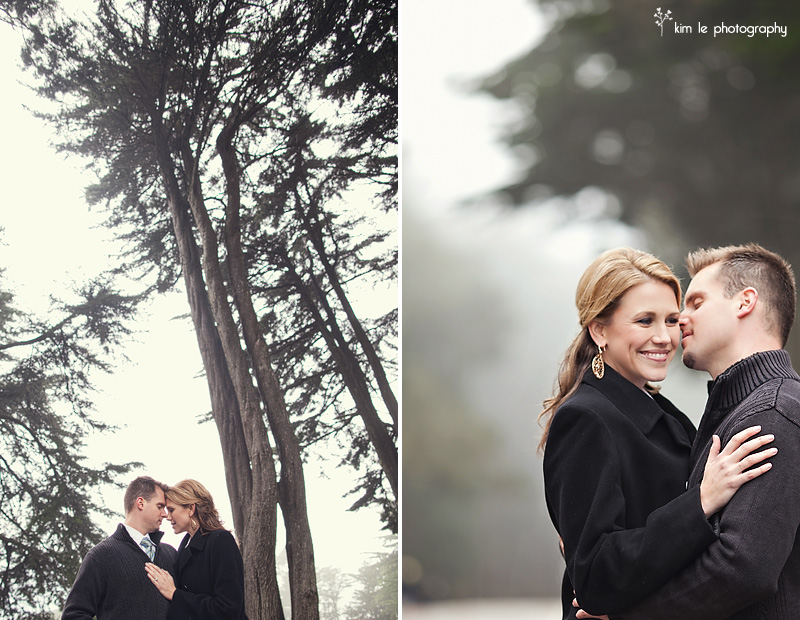 san francisco engagement by kim le photography