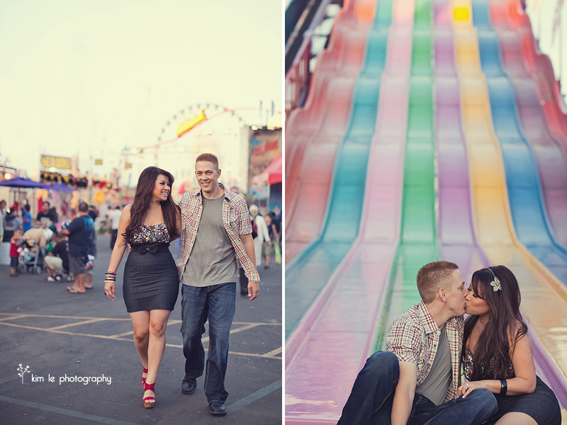 katie + shaun: orange county fair engagement