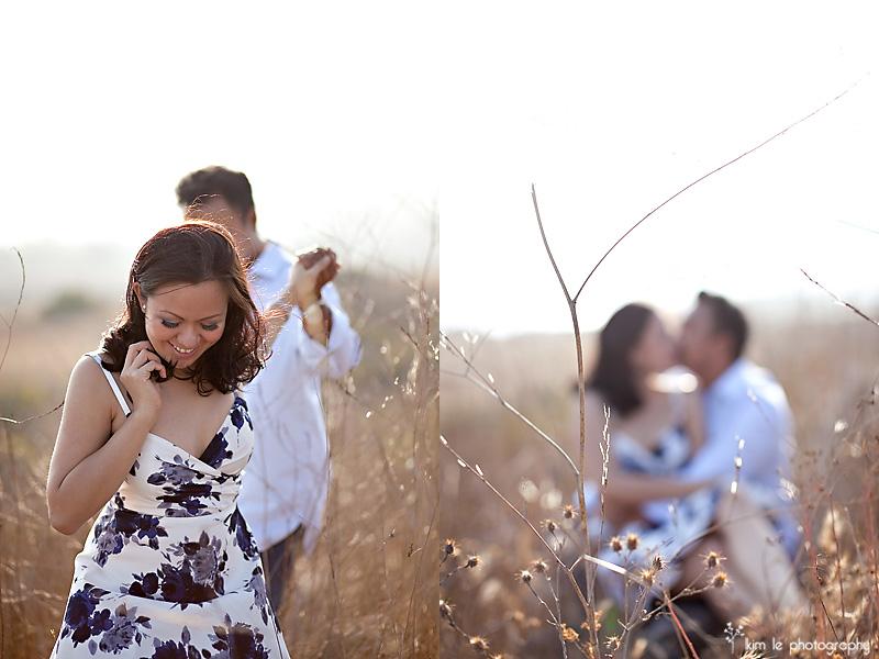 katrina & ryan engagement by kim le photography