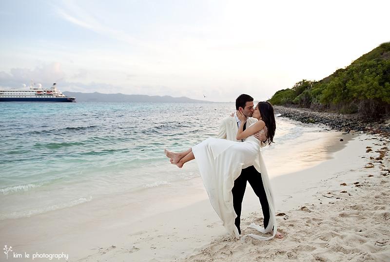 seadream caribbean wedding by kim le photography