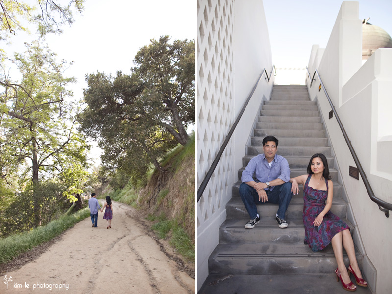 griffith park engagement  by kim le photography