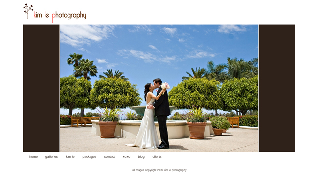 Kim Le Photography website