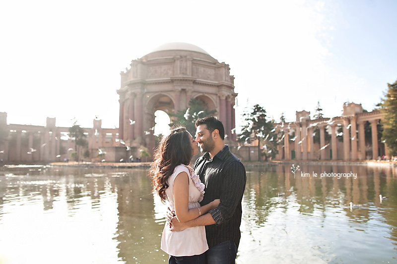 san francisco california palace of fine arts engagement photography by kim le photography