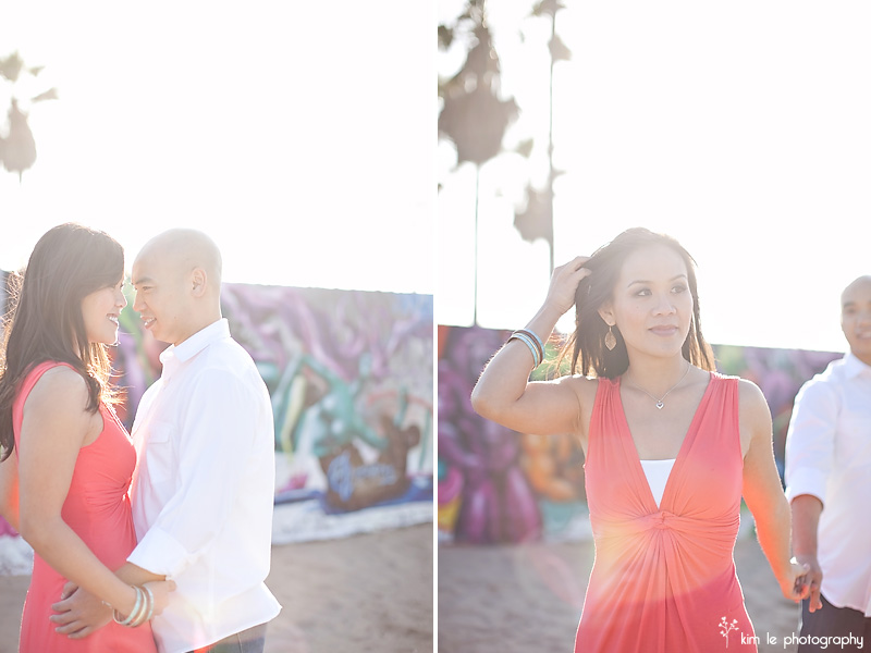 venice beach engagement by kim le photography