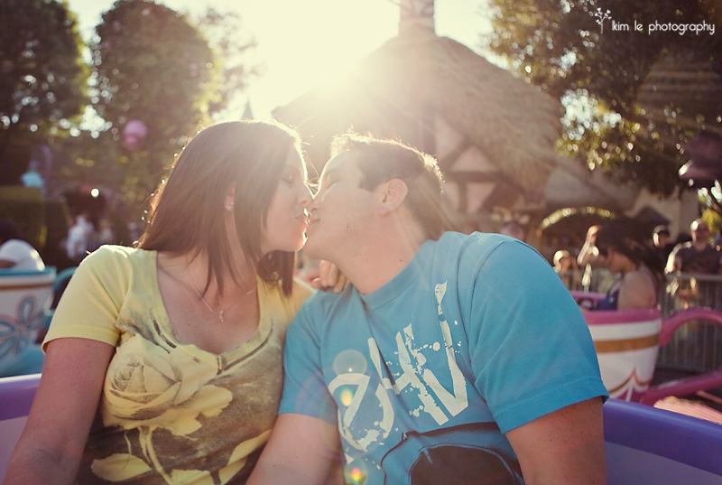 disneyland engagement by kim le photography