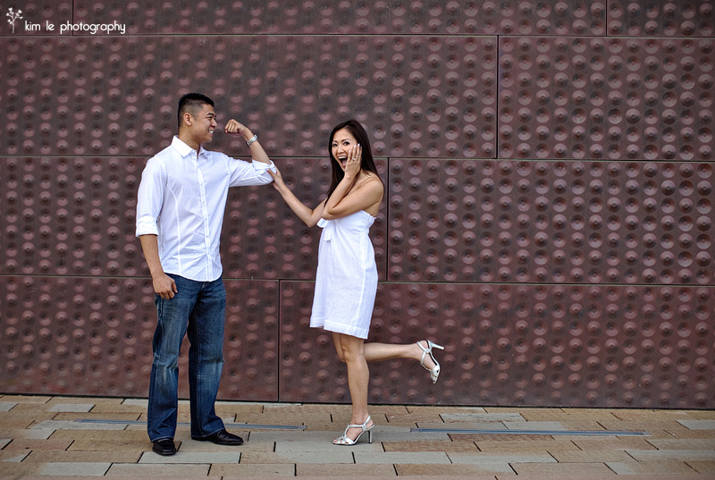 my & james engagement by kim le photography