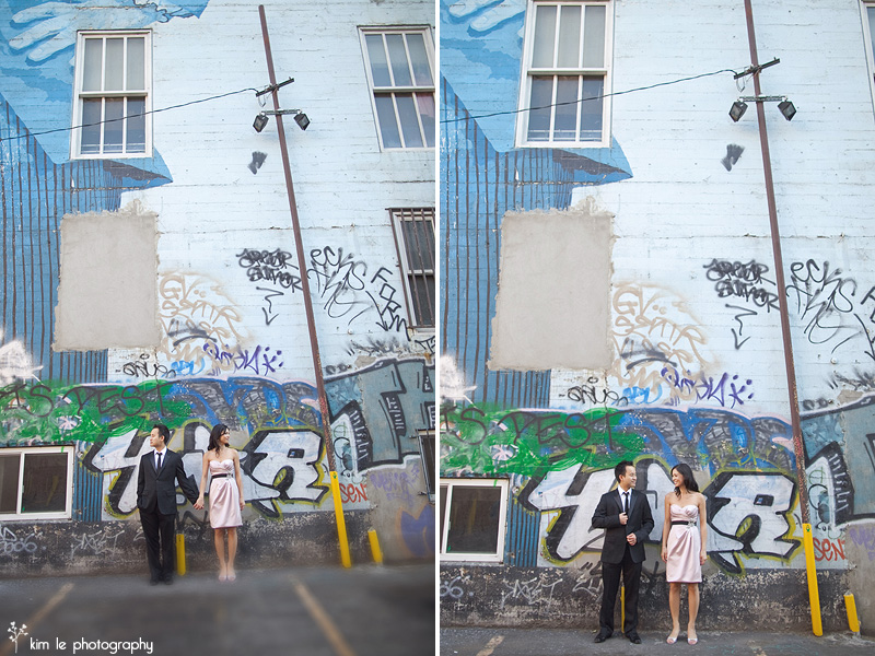 downtown los angeles engagement by kim le photography