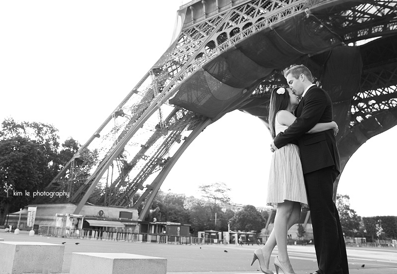 paris engagement wedding by kim le photography