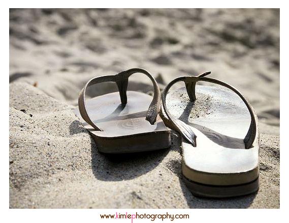 sandals on beach