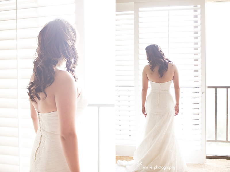 sidney and jon pacific palms resort wedding by kim le photography