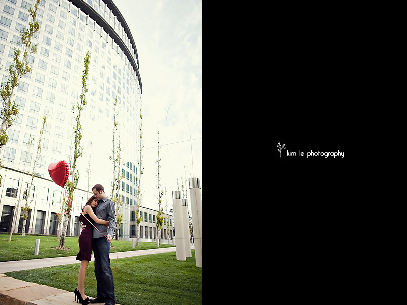 orange county engagement by kim le photography