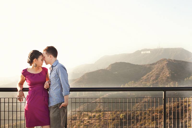 los angeles griffith park engagement by kim le photography