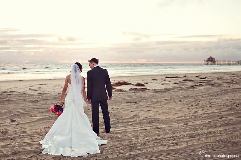 orange county huntington beach california wedding by kim le photography