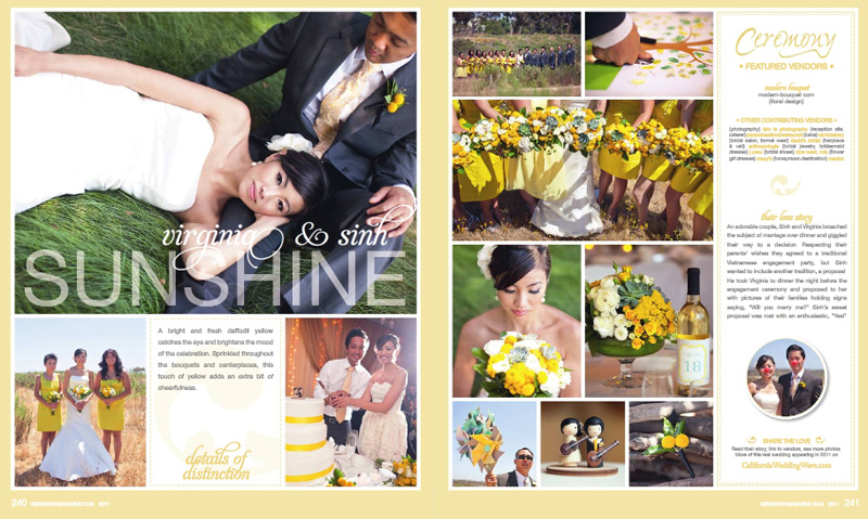 ceremony magazine san digeo california wedding by kim le photography