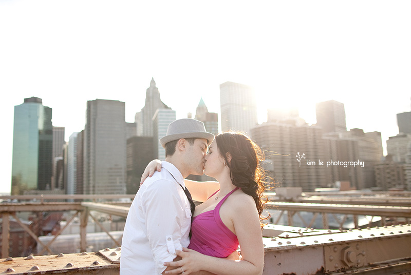 new york city engagement by kim le photography